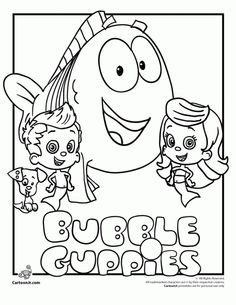 Bubble Guppies Coloring Pages - 25 Free Printable Sheets | Bubble ...