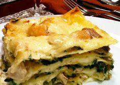 chicken, wild mushroom & fontina lasagna