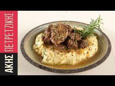Αγριογούρουνο κρασάτο στη χύτρα ταχύτητας από τον Άκη Πετρετζίκη. Φτιάξτε το πιο νόστιμο κυνήγι στη χύτρα και συνοδεύστε με πουρέ πατάτας για ένα τέλειο γεύμα! Greek Recipes, Hummus, Mashed Potatoes, Steak, Grilling, Food And Drink, Ethnic Recipes, Youtube, Whipped Potatoes