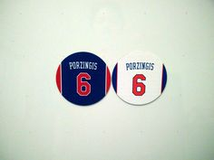 Kristaps Porzingis Magnets - Set of 2 Magnets - Knicks Home and Away Knicks New York Knicks, Home And Away, Magnets, Unique Gifts, Basketball, Fan, Hand Fan, Fans, Original Gifts