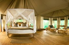 Bushcamp Company's digs in South Luangwa National Park, Zambia. Wowzers.