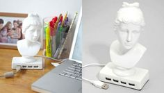 aphrodite usb port. love the mix of ancient timeless history with modern technological convenience