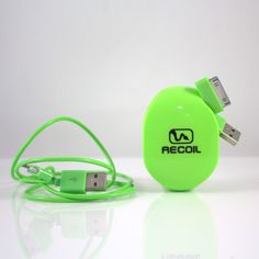 Make your friends GREEN with cord organization envy. Recoil Automatic Cord Winders now available in 5 colors. #tangledcords #cordorganization #green High End Headphones, Wire Management, Cord Organization, Cable Wire, Holiday Gift Guide, Getting Organized, Usb Flash Drive, Make It Yourself, Envy