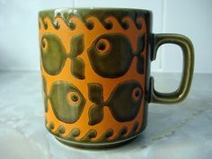 Hornsea pottery - I think my mum had one of these coffee mugs or a similar hornsea design.