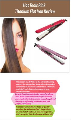 Hot Tools Pink Anium Flat Iron Is One Best In The Market It S