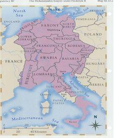 Le Saint Empire romain au temps des Hohenstaufen, sous Frederik II.