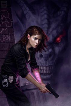 Secret of the Demon by Diana Rowland (cover art: Dan Dos Santos)