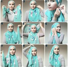 Hijab Tutorial from Sister Zahra Comment: Easy All-Day-Style