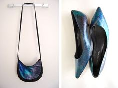 """Galaxy"" purse and shoes"