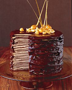"""Crepe making-skills and patience are needed to make this luscious layered """"cake."""" Martha is partial to the crepe cake, get her tips for acing making them."""
