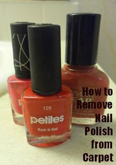 Remove nail polish from carpet with Windex!