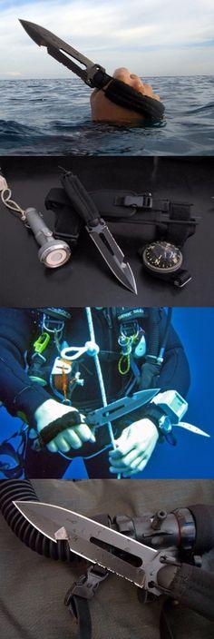 Extrema Ratio Ultramarine Multi purpose Fixed Dive Knife Blade