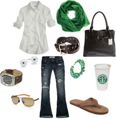 """""""Go Green"""" by akfoster ❤ liked on Polyvore"""