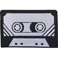 Black Grey Retro Cassette Tape Embroidered Iron / Sew On Patch T Shirt Bag Badge  Size  8.3 cm Width and 5.6 cm Height.  How to Iron on a Patch  1. Lay your cloth on a flat, heat-resistant surface like an ironing board. To ensure the item will provide a good surface for the patch, iron it first. If its a backpack or another item thats difficult to iron, do your best to arrange it so that the part of the fabric that will be receiving the patch is flat against a hard surface.  2. Place the...