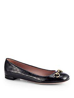 c63c97f02f9fb Gucci - Jolene GG Patent Leather Ballet Flats
