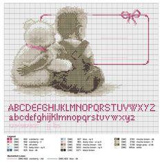 Birth sampler My Favorite Teddy for boy or girl
