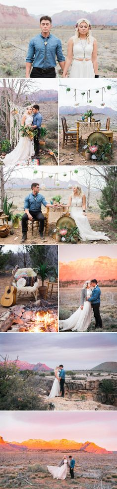 DROOLING over this BOHO wedding. Mountains, macrame and succulents!!! 9 of the Prettiest U.S. National Parks for Your Wedding | Junebug Weddings