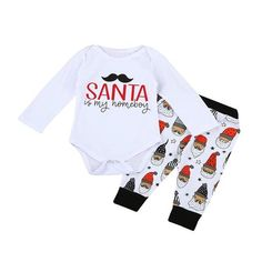 341803b8e36d 2017 New Baby Autumn Fashion Cotton Clothes Jumpsuit Newborn Infant Baby  Girl Boy Letter Romper Tops+Pants Christmas Outfits Set