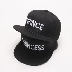 25717c57 2017 new PRINCE PRINCESS Embroidery men women Snapback Hat Couple Baseball  Cap Gifts For friendFashion Hip