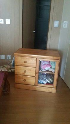 20-year-old wood furniture stuck in the corner