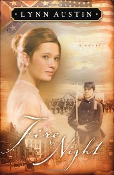 """Fire by Night by Lynn Austin...next to Francine Rivers and Karen Kingsbury, Lynn Austin is """"a monarch"""" of historical fiction. If you don't believe me, this civil war series is sure to convince you. The above book is the 2nd in the series, so if you want to start from the beginning (and I recommend you do!) look for """"A Candle in the Darkness"""" :-)"""