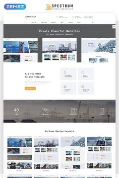 Spectrum - #Construction Multipage #html5  #website  #template