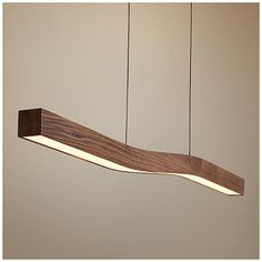 "Cerno Camur 56"" Wide Oiled Walnut LED Island Pendant"
