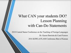 Best of Kansas: What CAN your students DO? Lesson Planning with Can-Do Statements (Presenters: Karen Detrixhe, Blue Valley School District, Overland Park, KS and Carol Furrow, Wichita (KS) Public Schools) Teaching Plan, Teaching Resources, 9th Grade English, Central States, 6th Grade Ela, Fun Projects For Kids, English Classroom, Classroom Posters, Project Based Learning