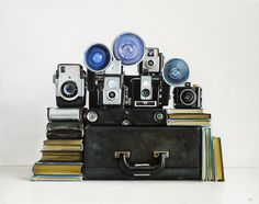 Vintage Kodak Cameras / 22 x 28 / oil on canvas / Christopher Stott