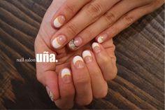 白フレンチにカモフラネイル。福岡のネイルサロンウーニャ #nail#nailsalon#nailart#fukuoka#una#frenchnail#camouflage#白フレンチネイル#カモフラネイル#福岡#ネイル#ネイルサロンウーニャ
