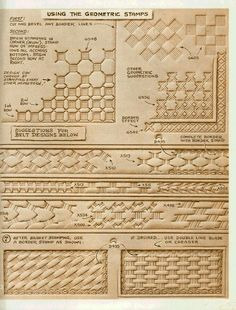 Image result for leather tooling patterns free