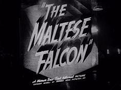 THE MALTESE FALCON | Warner Bros. trailer typography