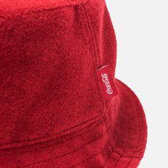 d27aa857b36 Kith Women x Coca-Cola Terry Cloth Bucket Cap - Red