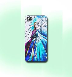 elsa and anna disney frozen stained glass    iPhone by CaseByViona, $13.99