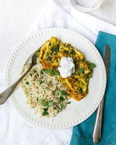 Herbacious Eggs and Cilantro Lime Rice 272 Calories/Egg Serving (2 Servings) Serve with Cilantro Lime Rice (Extra Calories)