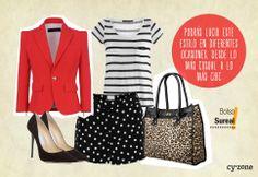 Añade una prenda roja a tu outfit para crear un look más impactante! #PrimerasVecesbyCyzone