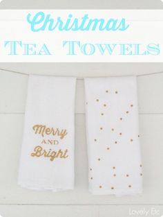 DIY Christmas Tea Towels... a great Christmas gift... get the tutorial!