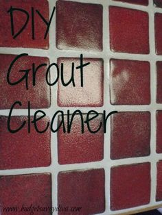 Use seven cups of water,  1/2 cup of baking soda,  1/3 cup of ammonia or lemon juice, and 1/4 cup vinegar  Scrub into grout lines until clean.