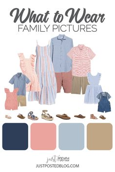Fall Family Picture Outfits, Spring Family Pictures, Family Pictures What To Wear, Beach Picture Outfits, Family Picture Colors, Family Portrait Outfits, Beach Family Photos, Family Outfits, Spring Photos