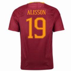 16-17 Roma Home #19 Alisson Cheap Replica Jersey [G00818]