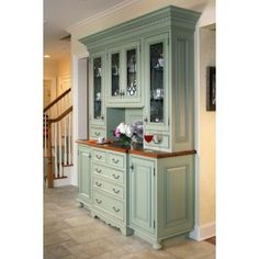 built in hutch in formal dining room using cabinetry from kitchen diy Dining room hutch Kitchen Redo, Kitchen And Bath, New Kitchen, Kitchen Remodel, Kitchen Cabinets, Kitchen Buffet Cabinet, Kitchen Ideas, Stock Cabinets, China Cabinets