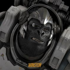 Winston : Overwatch Fan Art, Namju Kim on ArtStation at https://www.artstation.com/artwork/02BoV