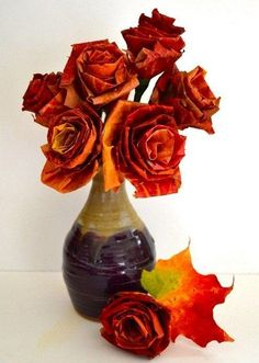 Jak z jesiennych liści zrobić wspaniały bukiet kwiatów?