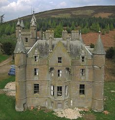 Balintore Castle. The castle occupies an elevated site in moorland above Balintore village, a few miles north of the Loch of Lintrathen, near Kirriemuir, Angus.