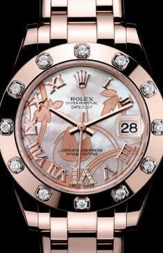 Rose Gold and Diamond Rolex https://www.thesterlingsilver.com/product/eterna-womens-quartz-watch-with-white-dial-analogue-display-and-white-leather-strap-2610-41-10-1375/