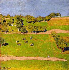 Edouard Vuillard Landscape at Romanel, 1900