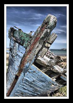 Epave   ria d'Etel cimetière de bateau