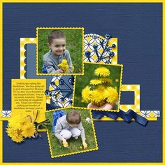 Dandelion Bouquet, digital layout by karla1970