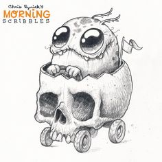 I selected five adorable and happy drawings to remake them in for fun, three monsters by Chris Ryniak, Spacial Cat by Spacegooose and Flor pokemon by unknown artist. Cute Monsters Drawings, Cartoon Monsters, Little Monsters, Cartoon Art, Cute Drawings, Skull Drawings, Monster Sketch, Monster Drawing, Doodle Monster
