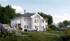 Aurora fra Systemhus ferdighus kataloghus Norwegian House, Home Fashion, Home Projects, Aurora, Norway, Shed, New Homes, Outdoor Structures, Mansions